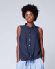 Tie-Waist Button Up Tank