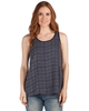 Button Back Plaid Tank