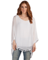 Cape Sleeve Blouse w/ Fringe