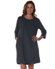 3/4 Sleeve Two Pocket Dress