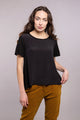 Crepe de Chine Short Sleeve Pleat back Tee