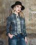 Vintage Plaid Jeans Jacket