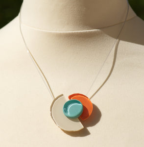 Collier 6316 - Trio Beige Bleu Orange