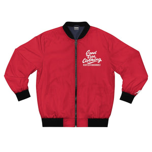 """Big Leaf"" Bomber Jacket-Red"