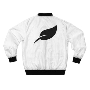 """Big Leaf"" Bomber Jacket-White"