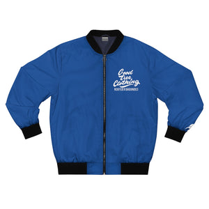 """Big Leaf"" Bomber Jacket-Nip Blue"