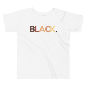 """BLACK"" Toddler Short Sleeve Tee"