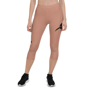 """Rose Gold"" Capri Leggings-Rose Gold"