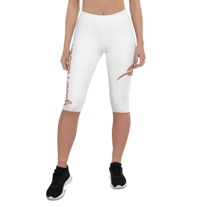 """Rose Gold"" Leggings-White"