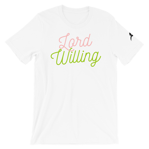 """Lord Willing"" PinkNGreen"