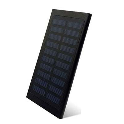 LCD 10000mah Solar Power Bank 2xUSB Black