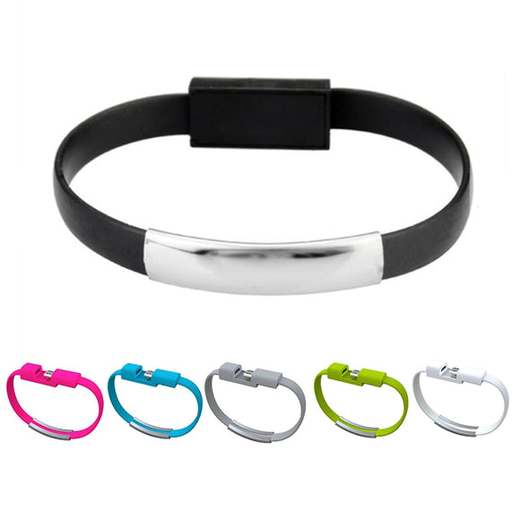 Micro USB Bracelet Charger (Many Colors)