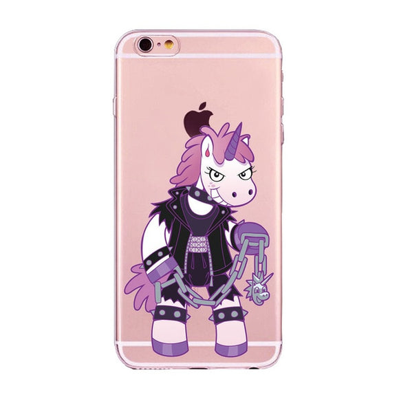 Unicorn Cartoon Soft Silicone Phone Case