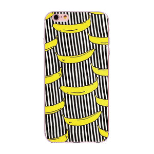 Banana Cartoon Soft Silicone Phone Case