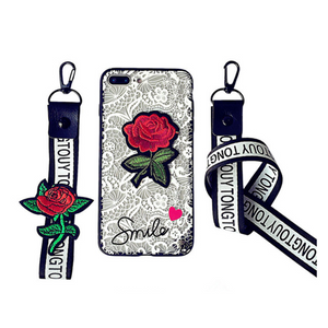 Lace Rose iPhone Case White