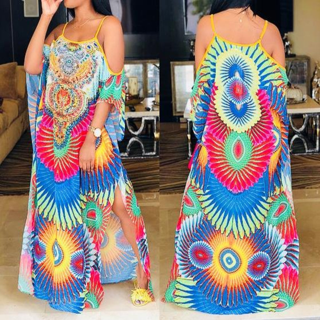 Sheer Coachella Maxi Dress , dress, - Closet Envy Boutique, women's fashion