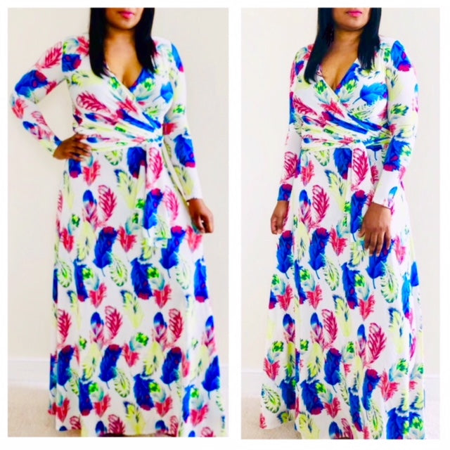 Madison Wrap Maxi Dress , dress, - Closet Envy Boutique, women's fashion