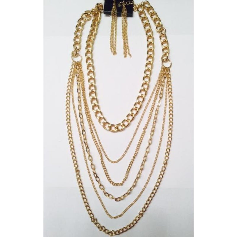 Gold Chain Necklace Set , jewelry, - Closet Envy Boutique, women's fashion