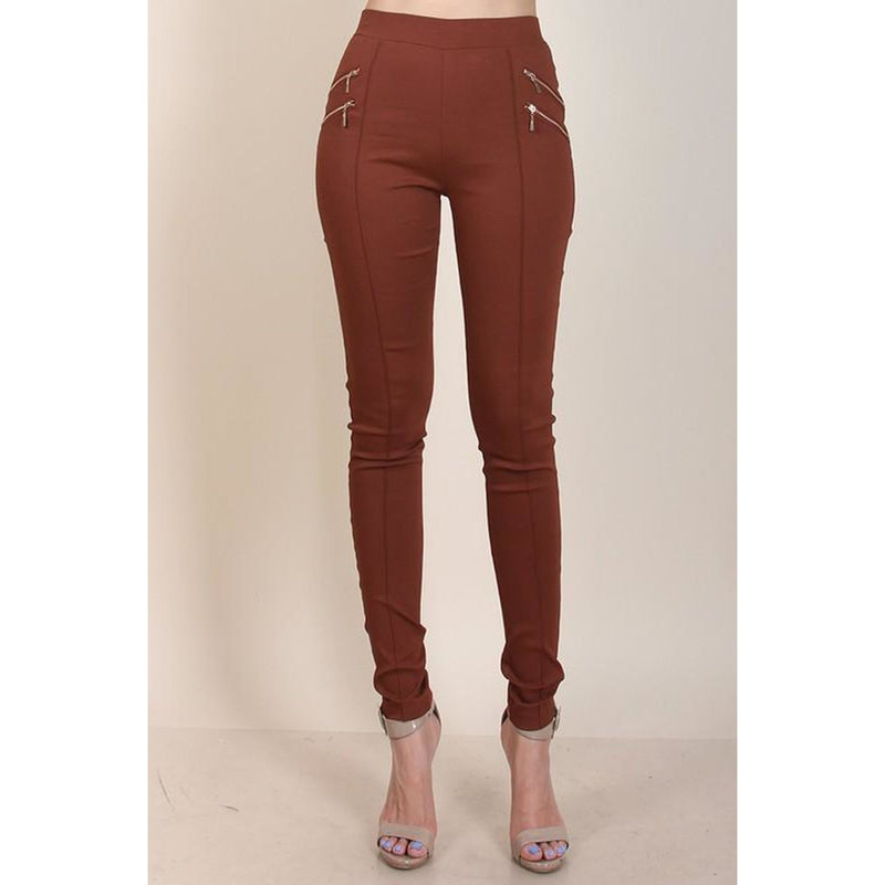 Cropped Zipper Leggings , BOTTOMS, - Closet Envy Boutique, women's fashion