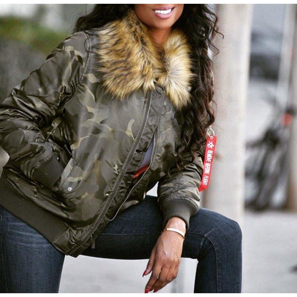 Camo Bomber Jacket , outerwear, - Closet Envy Boutique, women's fashion