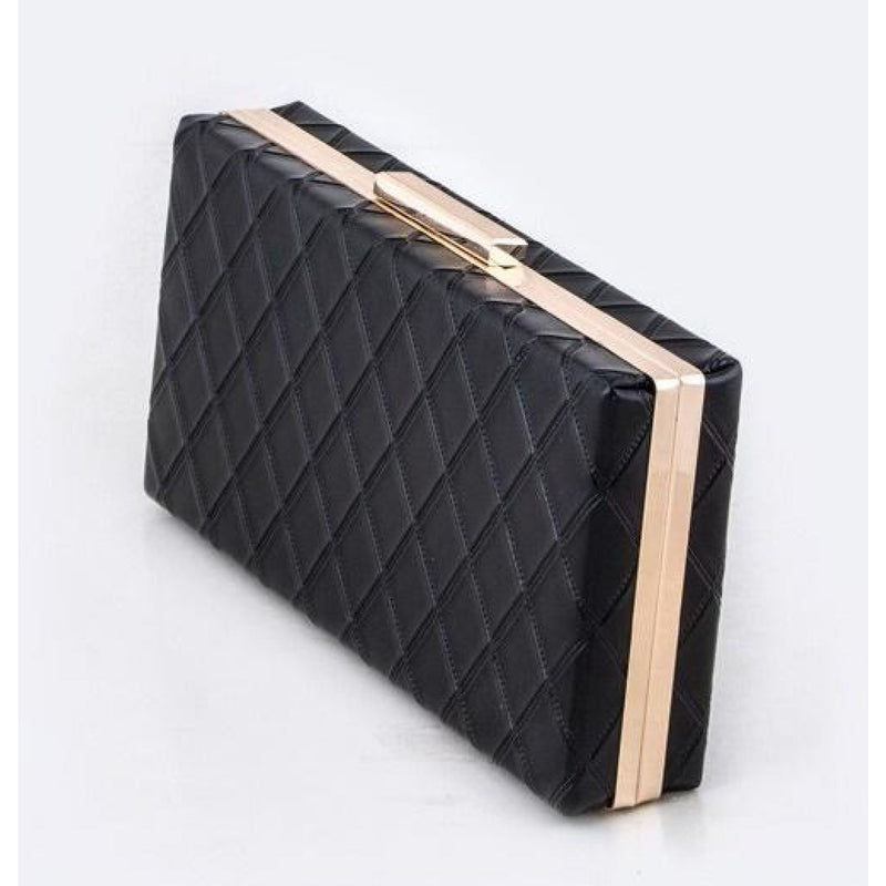 Quilted Box Clutch , clutch, - Closet Envy Boutique, women's fashion