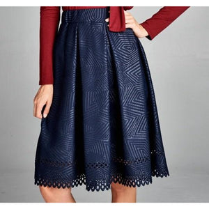 Trish Laser Cut Skirt , BOTTOMS, - Closet Envy Boutique, women's fashion