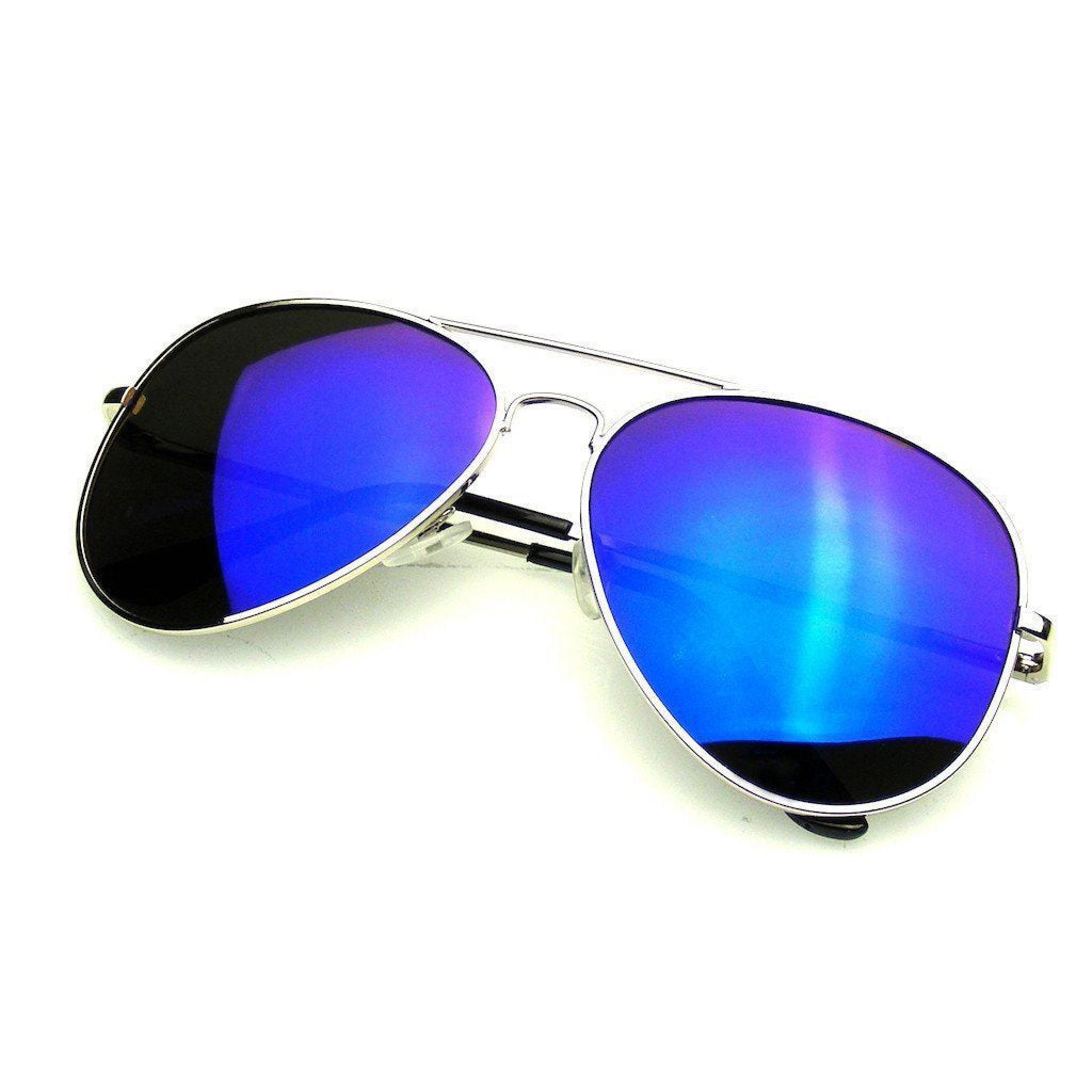 Royal Blue Reflective Sunglasses , sunglasses, - Closet Envy Boutique, women's fashion