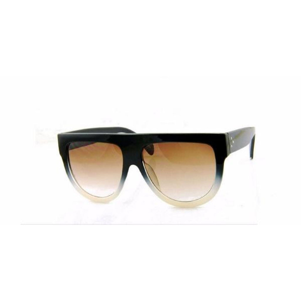 Black & Beige Flat Top Sunglasses , sunglasses, - Closet Envy Boutique, women's fashion