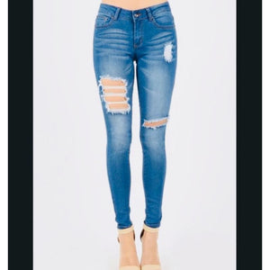 Snatched Distressed Denim , BOTTOMS, - Closet Envy Boutique, women's fashion