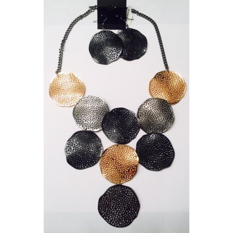 Multi Disc Necklace Set , jewelry, - Closet Envy Boutique, women's fashion