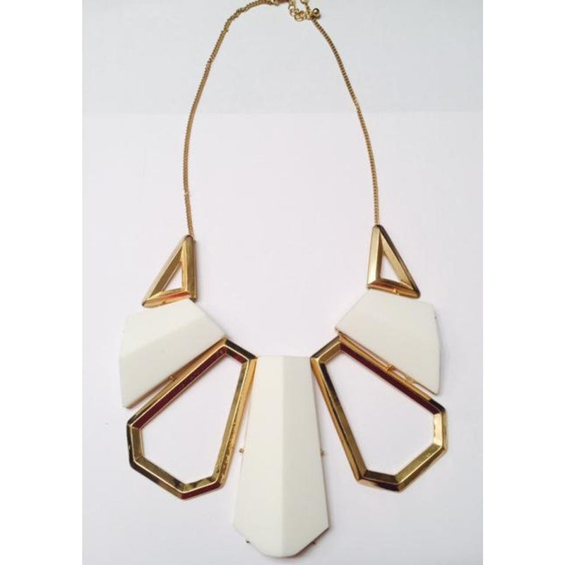 White & Gold Necklace , jewelry, - Closet Envy Boutique, women's fashion