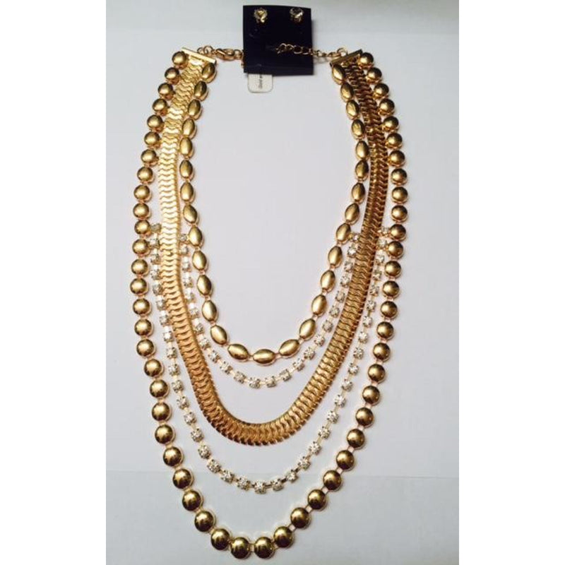 Diamonds & Gold Necklace Set , jewelry, - Closet Envy Boutique, women's fashion