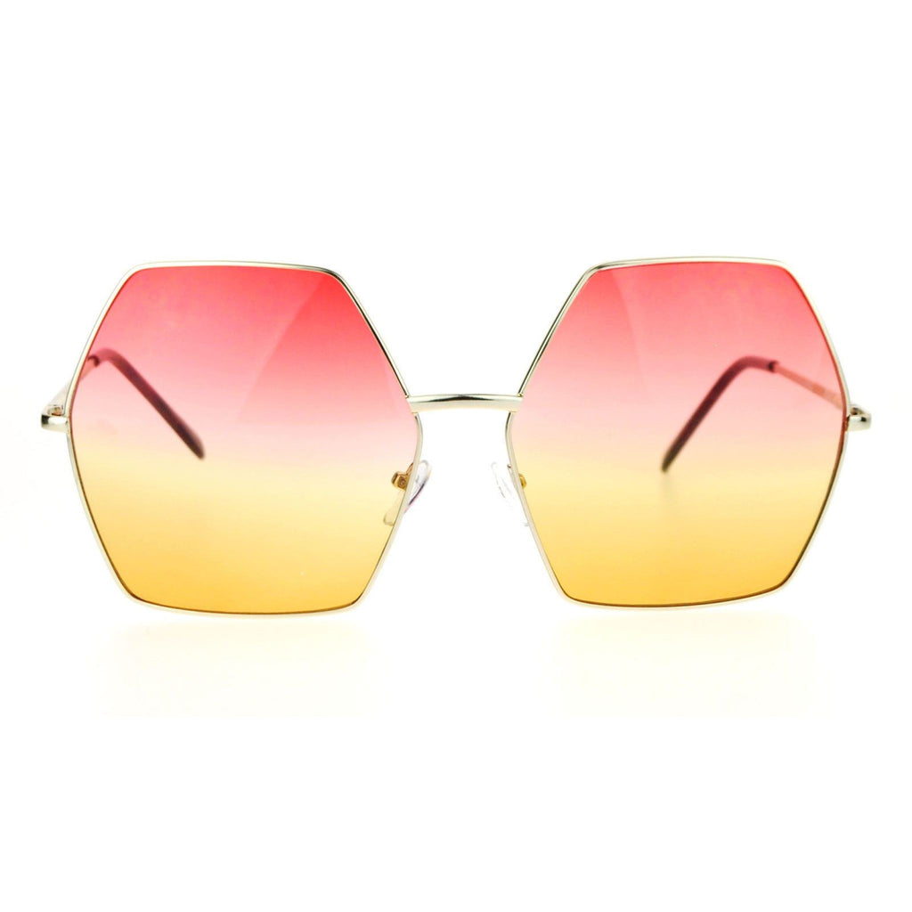 Pink & Yellow Oversize Sunglasses , sunglasses, - Closet Envy Boutique, women's fashion