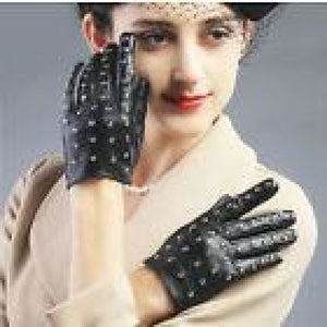 Studded Leather Gloves , gloves, - Closet Envy Boutique, women's fashion