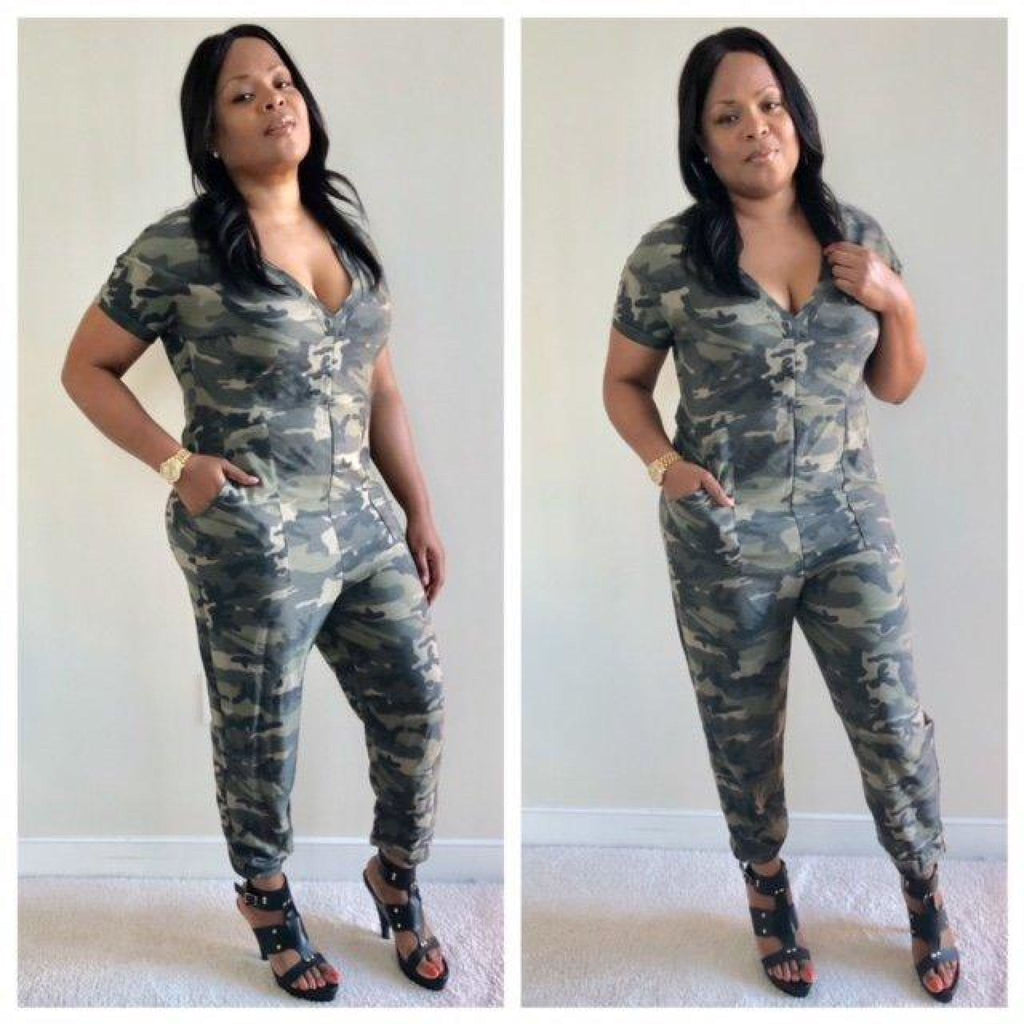Love & War Camo Jumper , jumpsuit, - Closet Envy Boutique, women's fashion
