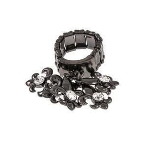 Pewter Crystal Charm Ring , jewelry, - Closet Envy Boutique, women's fashion