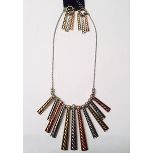 Tri-Tone Necklace Set , jewelry, - Closet Envy Boutique, women's fashion
