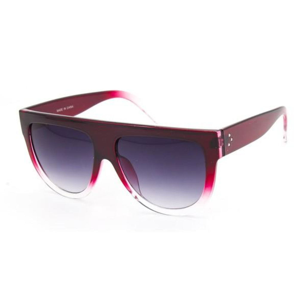 Burgundy Flat Top Sunglasses , sunglasses, - Closet Envy Boutique, women's fashion