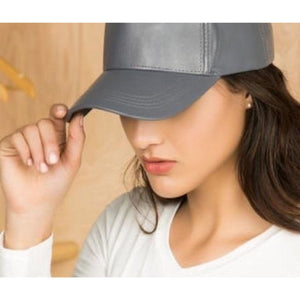 Leather Cap , hats, - Closet Envy Boutique, women's fashion