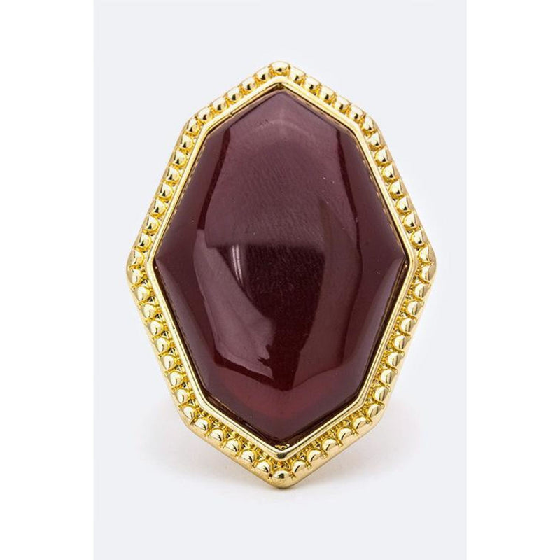 Burgundy Stone Ring , jewelry, - Closet Envy Boutique, women's fashion