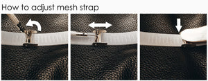 How to adjust mesh strap