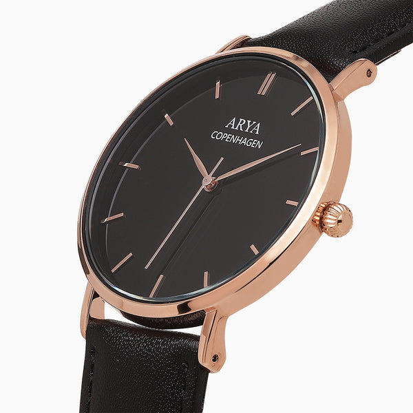Ethereal Dark - Rose Gold | Black Leather