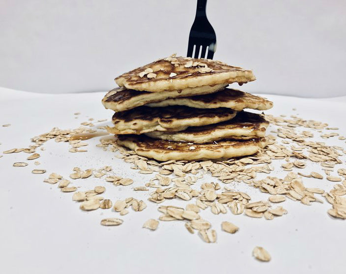 MAPLE OATS PANCAKES -- YUM!