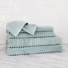Zero Twist Turkish Ribbed 6 Piece Assorted Towel Set