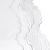 Double Scallop Embroidered Percale Sheet Set