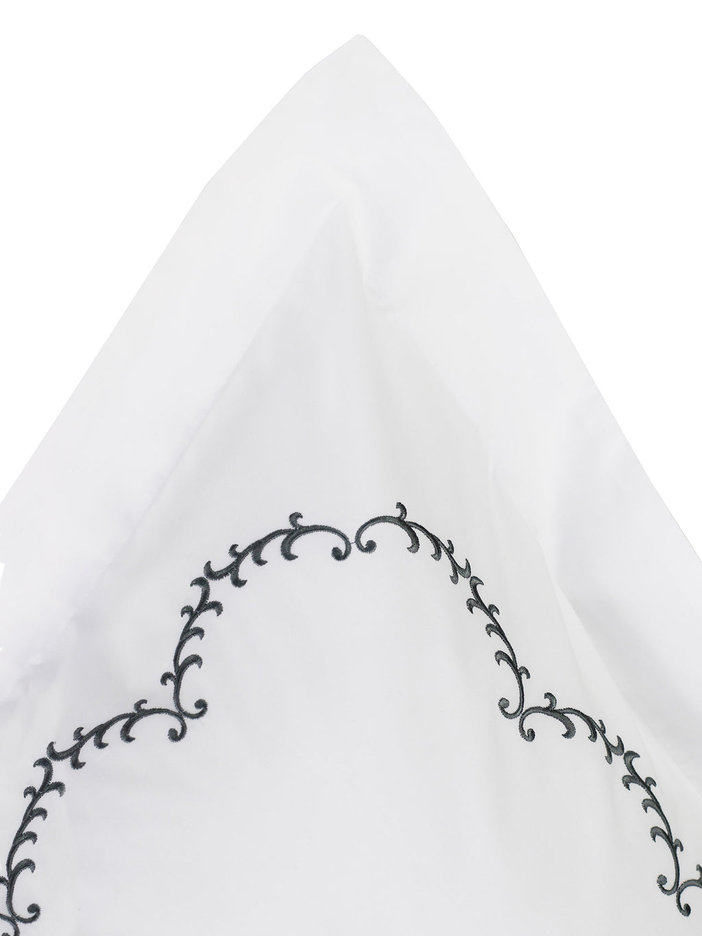 Laurel Embroidered Percale Duvet Set