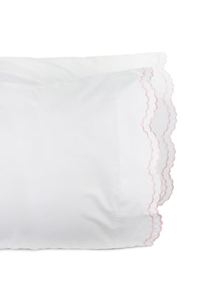 Double Scallop Embroidered Pillowcase Pair