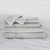 Zero Twist Ribbed 100% Turkish Cotton 6 Piece Ensemble Towel Set White