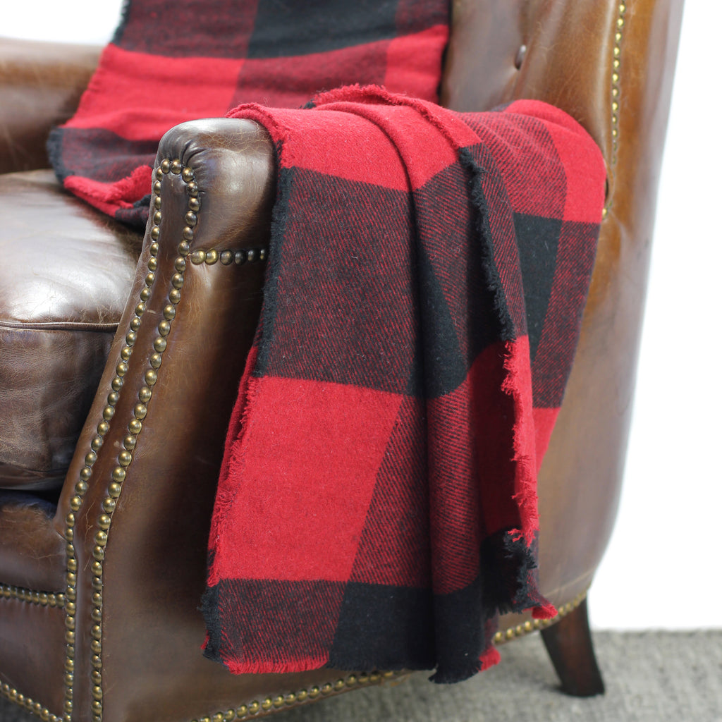 Buffalo Plaid Wool Throw