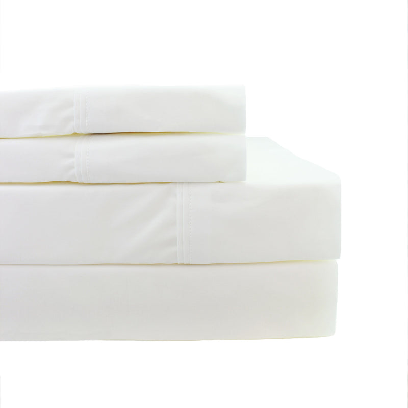 Double Pleat Percale Sheet Set